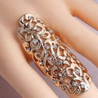 Long Double Knuckle Ring