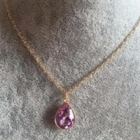 Faceted Lilac Water Drop Necklace