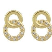 Gold Rings Rhinestone Earrings