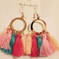 Bohemian Multi-color Tassel Earrings