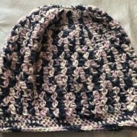 Pink, Blue, & Cream Messy Bun Hat