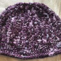 Purple Shades Messy Bun Hat