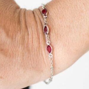 Center Stage Chic Red Bracelet