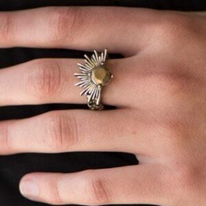 Electric Eclipse Brass Ring
