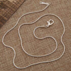 20″ inch 925 Silver Plated 1.2 mm Snake Chain Necklace With Lobster Clasps