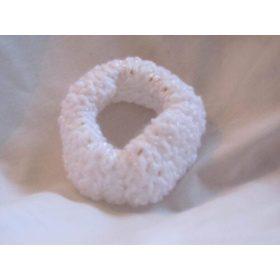 Baby White Hand Knitted Scrunchie