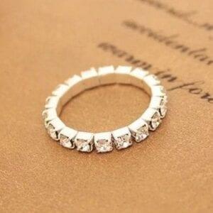 Adjustable Rhinestone Ring