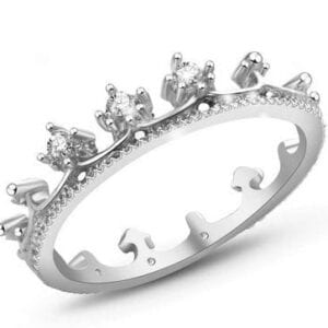 Silver Crown Knuckle Ring