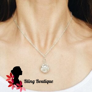Ball of Silver String Necklace