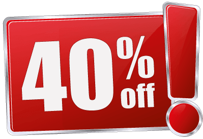 40% Off All Items