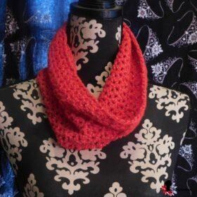 Red Sparkle Cowl