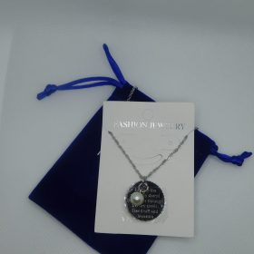 Cactus Stay Best Friends Silver Necklace
