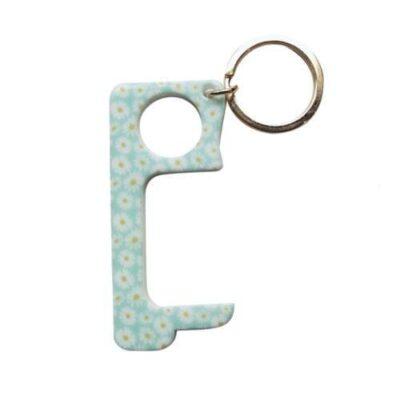 Touchless Hands-Free Door Opener Keychain - DAISIES