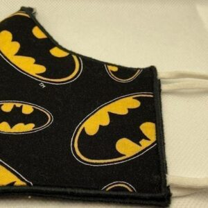 Handmade Bat Face Covering w/Soft Elastic Ear Loops