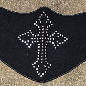 Rhinestone Cross Flat Covering