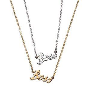 Boss Necklace – Goldtone