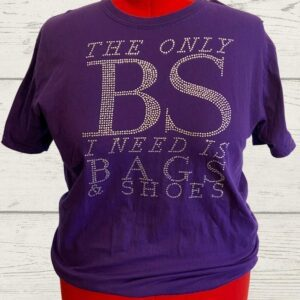 The Only BS I Need Purple Unisex Tee – XL